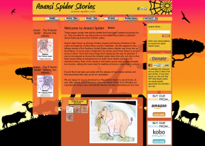 Anansi Spider website